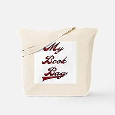 My Book Bag Red Text Tote Bag