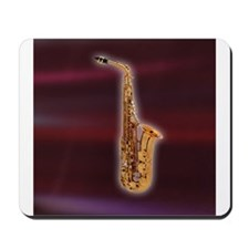 Saxaphone on Red Mousepad