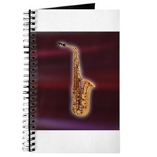 Saxaphone on Red Journal