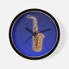 Funny Saxaphone Wall Clock