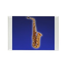 Cute Sax Rectangle Magnet