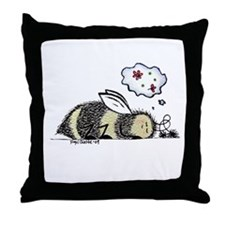 """""""Let Sleeping Bees Lie"""" Throw Pillow"""