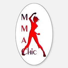 MMA Chic Oval Decal