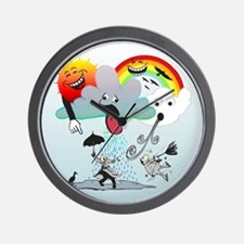 Very Bad Weather! Wall Clock