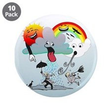 "Very Bad Weather! 3.5"" Button (10 pack)"