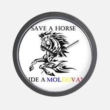 Save a horse Ride a Moldovan Wall Clock