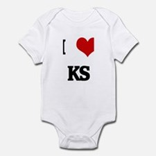 I Love KS Infant Bodysuit