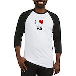 I Love KS Baseball Jersey