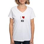 I Love KS Women's V-Neck T-Shirt