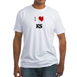 I Love KS Fitted T-Shirt