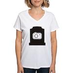 Headstone Photographer Women's V-Neck T-Shirt