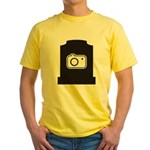 Headstone Photographer Yellow T-Shirt