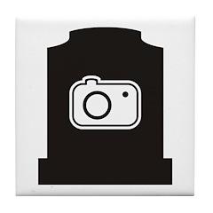 Headstone Photographer Tile Coaster