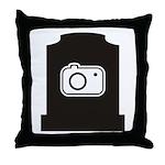 Headstone Photographer Throw Pillow