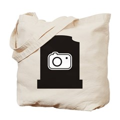 Headstone Photographer Tote Bag