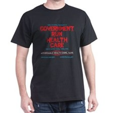 GOVERNMENT RUN HEALTH CARE Dark Tee