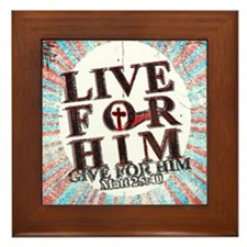 Live for Jesus Framed Tile