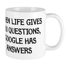 """Google Has Answers"" Small Mug"
