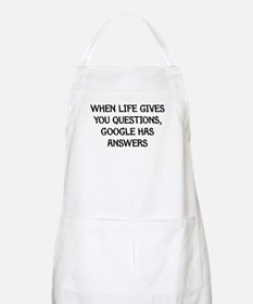 """Google Has Answers"" BBQ Apron"