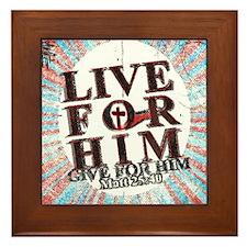 Live for Jesus Framed Tile