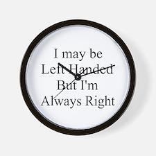 Left handed ... Wall Clock