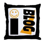 Blog Happy Throw Pillow