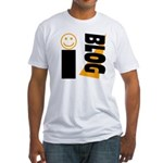 Blog Happy Fitted T-Shirt