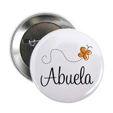 "Abuela Butterfly 2.25"" Button"