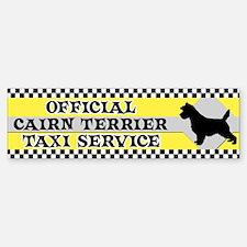 Official Cairn Terrier Taxi Bumper Bumper Bumper Sticker