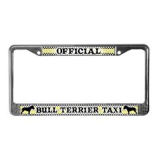 Official Bull Terrier Taxi License Plate Frame