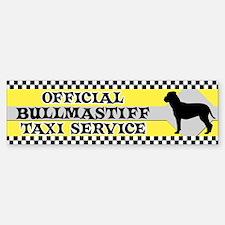 Official Bullmastiff Taxi Bumper Bumper Bumper Sticker