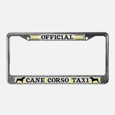 Official Cane Corso Taxi License Plate Frame