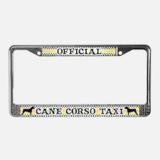 Official Cane Corso Taxi License Plate Frame