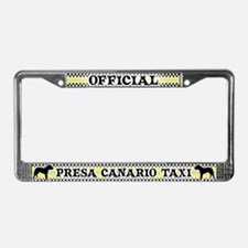 Official Presa Canario Taxi License Plate Frame