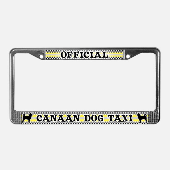 Official Canaan Dog Taxi License Plate Frame
