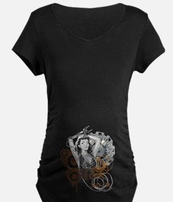 Tech noir pulp steampunk dame T-Shirt