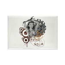 Tech noir pulp steampunk dame Rectangle Magnet (10