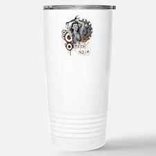 Tech noir pulp steampunk dame Travel Mug