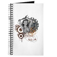 Tech noir pulp steampunk dame Journal