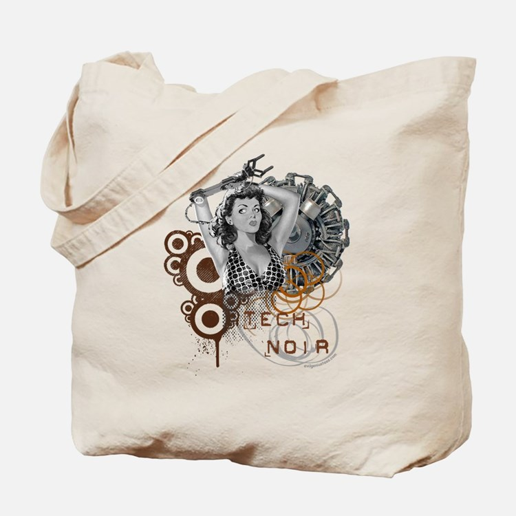 Tech noir pulp steampunk dame Tote Bag
