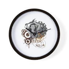Tech noir pulp steampunk dame Wall Clock