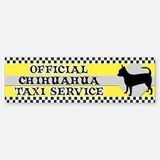 Official Chihuahua Taxi Bumper Bumper Bumper Sticker