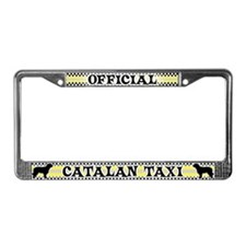 Official Catalan Sheepdog Taxi License Plate Frame