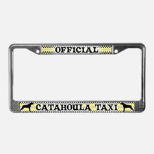 Official Catahoula Taxi License Plate Frame