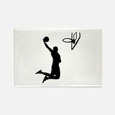 Basketball Rectangle Magnet (100 pack)
