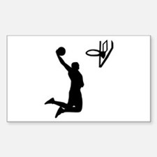 Basketball Rectangle Bumper Stickers