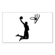 Basketball Rectangle Decal
