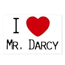 I :heart: Mr. Darcy Postcards (Package of 8)