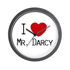 I :heart: Mr. Darcy Wall Clock