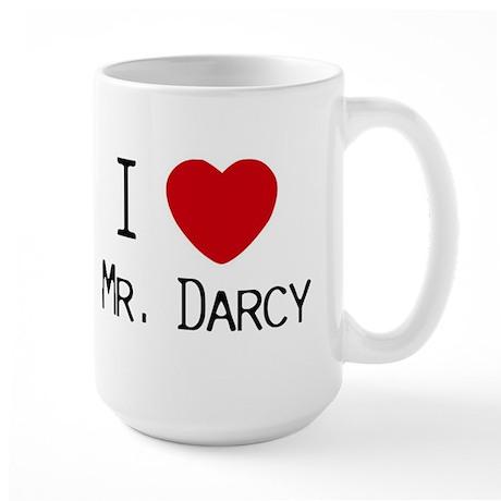 I :heart: Mr. Darcy Large Mug